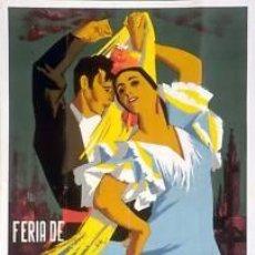 Carteles Feria: CARTEL FERIA DE SEVILLA 1963. FLORES, M. 448X71 CM.. Lote 35265352