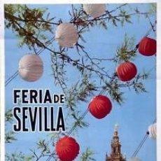 Carteles Feria: CARTEL FERIA DE SEVILLA 1962. PALAU, A. 49X69 CM.. Lote 35265502