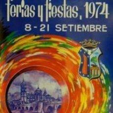 Carteles Feria: CARTEL FERIAS Y FIESTAS 1974 SALAMANCA.YTURRIAGA.43X64. Lote 35266231