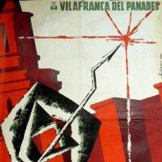 Carteles Feria: CARTEL FIESTA MAYOR 1964 VILAFRANCA PENEDES.COLOMER. Lote 35308976