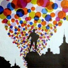 Carteles Feria: CARTEL FIESTAS SAN ISIDRO MADRID 1979. URBANO. 69X100CM. Lote 35311757