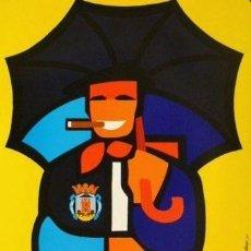 Carteles Feria: CARTEL FIESTAS VIRGEN BLANCA VITORIA 1972.GÜENAGA.45X67. Lote 35323322