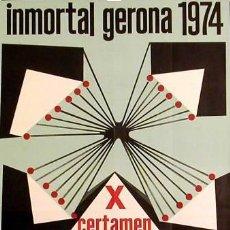 Carteles Feria: CARTEL INMORTAL GERONA 1974. 1974. XARGAY.. Lote 45100202