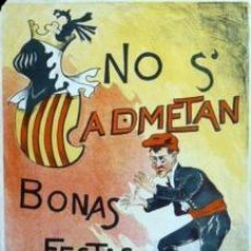 Carteles Feria: CARTEL NO S'ADMETAN BONAS FESTAS. C. 1910. 38X53 CM.. Lote 35355882