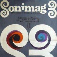Carteles Feria: CARTEL SONIMAG · 3. 1965. PLA NARBONA. 63 X 88 CM.. Lote 35356440