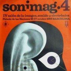 Carteles Feria: CARTEL SONIMAG 4.1966. PLA NARBONA. 63 X 88 CM.. Lote 35356527