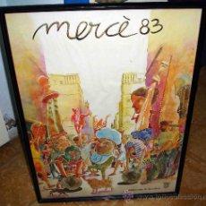 Carteles Feria: CARTEL FIESTAS DE LA MERCÈ 1983. BARCELONA. FIRMADO POR ARTIGAU. Lote 35359424