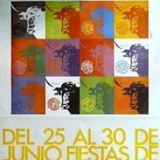 Carteles Feria: CARTEL SORIA. SAN JUAN 1980. LOZANO. 70 X 100 CM.. Lote 35401178
