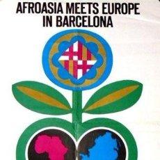 Carteles Feria: CARTEL AFROASIA MEETS EUROPE.C.1970.PUBLIARTIGAS. 35X50. Lote 35416069