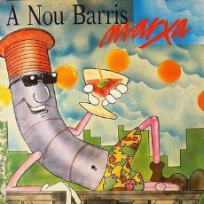 Carteles Feria: CARTEL A NOU BARRIS MARXA. BARCELONA. C.1990. CATALUNYA. 35X50. Lote 35416105