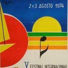 Carteles Feria: CARTEL ALMERIA V FESTIVAL INTER. CANCIÓN.1974. 45 X 65. Lote 35431593