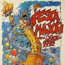 Carteles Feria: CARTEL FESTA MAJOR ANY DE GRACIA DE 1992. JORDI BUXADE. BARCELONA. 34X48. Lote 35432816