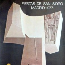 Carteles Feria: CARTEL FIESTAS SAN ISIDRO MADRID 1977.SANTAMARIA.69X100. Lote 35444908