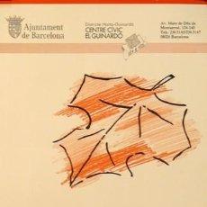 Carteles Feria: CARTEL RONDA DEL GUINARDO. FESTES DE TARDOR.1985.BONANY. Lote 35446479