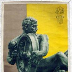 Carteles Feria: CARTEL FERIA MUESTRARIO DE VALENCIA 1952 , ORIGINAL. Lote 35566875