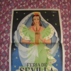 Carteles Feria: SEVILLA FERIA DE ABRIL ANTIGUO CARTEL AÑO 1955 MEDIDAS 32 X 48 CM ORIGINAL EXCELENTE ESTADO. Lote 35922810