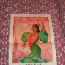 Carteles Feria: SEVILLA FERIA DE ABRIL ANTIGUO CARTEL AÑO 1954 MEDIDAS 32 X 48 CM ORIGINAL EXCELENTE ESTADO. Lote 35922813