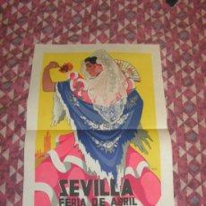 Carteles Feria: SEVILLA FERIA DE ABRIL ANTIGUO CARTEL AÑO 1953 MEDIDAS 32 X 48 CM ORIGINAL EXCELENTE ESTADO. Lote 35922824