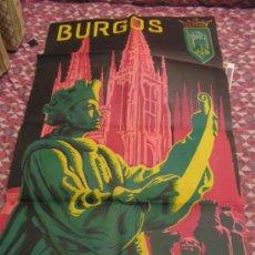 Carteles Feria: + BURGOS FERIAS Y FIESTAS AÑO 1955 MEDIDAS 56 X 92 CM ORIGINAL. Lote 35923358