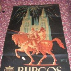 Carteles Feria: + BURGOS FERIAS Y FIESTAS AÑO 1955 MEDIDAS 56 X 92 CM ORIGINAL. Lote 35923371