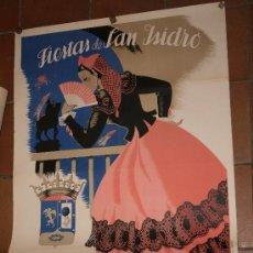 Carteles Feria: CARTEL IMPRESO. FIESTAS DE SAN ISIDRO. MADRID 1951. 100 X 70 CM. ILUSTRADO POR MAIRATA.. Lote 35925902