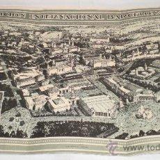 Carteles Feria: CARTEL (TRIPTICO) EXPOSICIÓN INTERNACIONAL BARCELONA - 1929. Lote 35975855