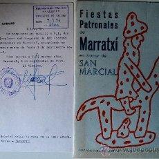 Carteles Feria: PROGRAMA FESTES PATRONALS DE SANT MARÇAL (MARRATXI, 1979) . Lote 36101635