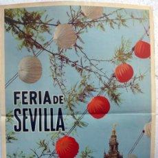 Carteles Feria: CARTEL FERIAS Y FIESTAS, FERIA SEVILLA 1962 , FOTO PALAU , ORIGINAL, A. Lote 36615397