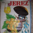 Carteles Feria: CARTEL FERIA DE LA VENDIMIA JEREZ DE LA FRONTERA 1965, CON ALGUNOS DEFECTITOS COMO SE OBSERVA . Lote 36641933