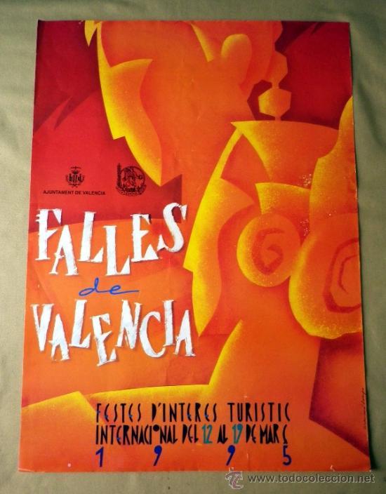 CARTEL FALLAS, 1995, PRIMER PREMIO, 50 X 70 CM (Coleccionismo - Carteles Gran Formato - Carteles Ferias, Fiestas y Festejos)