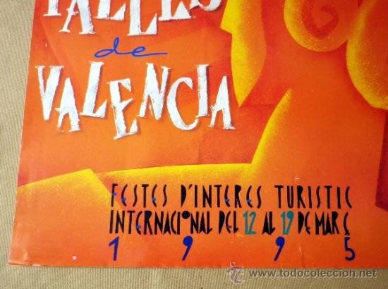 Carteles Feria: CARTEL FALLAS, 1995, PRIMER PREMIO, 50 X 70 CM - Foto 3 - 36709441