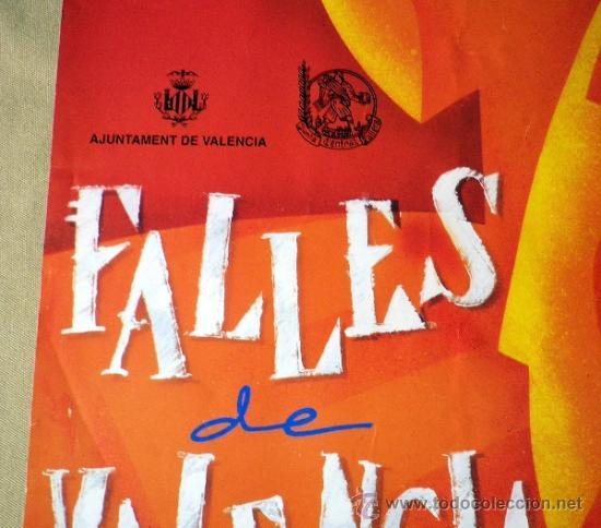 Carteles Feria: CARTEL FALLAS, 1995, PRIMER PREMIO, 50 X 70 CM - Foto 4 - 36709441