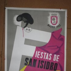 Carteles Feria: CARTEL ORIGINAL IMPRESO ILUSTRADO POR MAIRATA. MADRID FIESTAS DE SAN ISIDRO 1963 TOROS, FUTBOL.. Lote 36723855