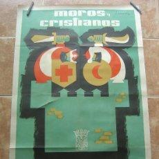 Carteles Feria: FIESTAS DE MOROS Y CRISTIANOS DE VILLENA 1961 61 LITOGRAFIA DE J.SANCHIS . Lote 36776742