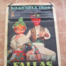 Carteles Feria: FALLAS DE SAN JOSE VALENCIA 1959 59 OFFSSET. Lote 36777097