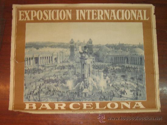 CARTEL EXPOSICION INTERNACIONAL DE BARCELONA 1929. RIEUSSET.SA BARCELONA 70 X 52 CM (Coleccionismo - Carteles Gran Formato - Carteles Ferias, Fiestas y Festejos)