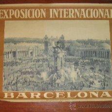 Carteles Feria: CARTEL EXPOSICION INTERNACIONAL DE BARCELONA 1929. RIEUSSET.SA BARCELONA 70 X 52 CM. Lote 36922758