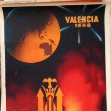 Cartazes Feira: CARTEL FALLAS VALENCIA 1948, LITOGRÁFICO . 100X62 CM. ORIGINAL ANTIGUO DE ÉPOCA, . Lote 37140276