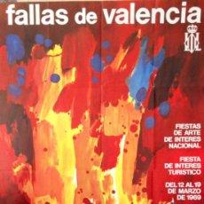 Carteles Feria: CARTEL FALLAS VALENCIA 1969 . 100X62 CM. ORIGINAL ANTIGUO DE ÉPOCA. . Lote 37140458