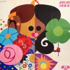 Carteles Feria: CARTEL FERIA VALENCIA 1969. 62X100CM APROX. . Lote 37156203