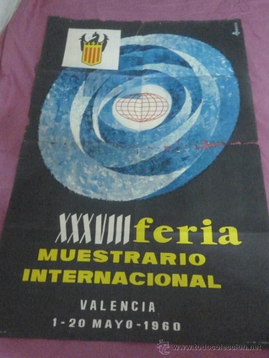 FERIA MUESTRARIO INTERNACIONAL DE VALENCIA. 1960 (Coleccionismo - Carteles Gran Formato - Carteles Ferias, Fiestas y Festejos)