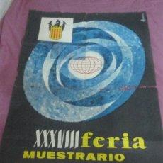 Carteles Feria: FERIA MUESTRARIO INTERNACIONAL DE VALENCIA. 1960. Lote 37181256