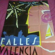 Carteles Feria: FALLAS DE VALENCIA DE 1989. GRAN FORMATO. Lote 37226855