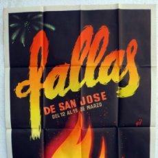 Carteles Feria: CARTEL FERIAS Y FIESTAS, FALLAS DE VALENCIA 1958 , ILUSTRADOR GIL , ORIGINAL. Lote 37380855