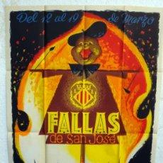 Carteles Feria: CARTEL FERIAS Y FIESTAS, FALLAS DE VALENCIA 1964 , ILUSTRADOR RAGA , ORIGINAL. Lote 135045490