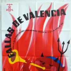 Carteles Feria: CARTEL FERIAS Y FIESTAS, FALLAS DE VALENCIA 1967 , ILUSTRADOR MINGUEZ , ORIGINAL. Lote 37380967