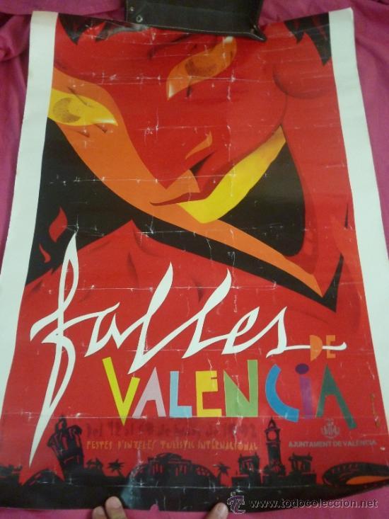 CARTEL GRAN FORMATO. FALLAS DE VALENCIA 1992 (Coleccionismo - Carteles Gran Formato - Carteles Ferias, Fiestas y Festejos)