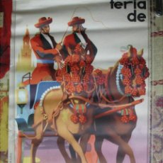Affissi Fiera: CARTEL FERIA SEVILLA 1958.VICENTE LLORES.ANGEL GRANADA.50X31,. Lote 37700014