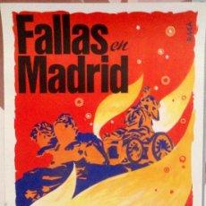 Carteles Feria: CARTEL DE FALLAS DE VALENCIA EN MADRID. AUTOR: RAGA, 1982. 31X46 CM. . MUY RARO. Lote 37744232