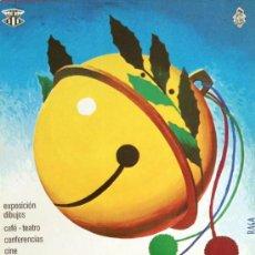 Carteles Feria: CARTEL 10 OLIMPIADA DEL HUMOR VALENCIA, 1975. AUTOR: RAGA. 58 X 37 CM. FALLAS.. Lote 37882871